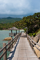 Boardwalk near lighthouse of Phangan island, Thailand