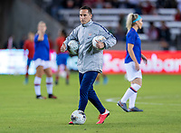 HOUSTON, TX - FEBRUARY 03: Milan Ivanovic of the United States on the field during warm ups during a game between Costa Rica and USWNT at BBVA Stadium on February 03, 2020 in Houston, Texas.