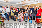 Mary & Patrick Casey from Riverview, Cahersiveen seated front centre celebrated their 50th wedding anniversary with family at the Ring of Kerry Hotel on Saturday 28th December.