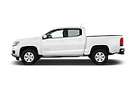 Car Driver side profile view of a 2016 Chevrolet Colorado Work-Truck-Crew 4 Door Pick-up Side View