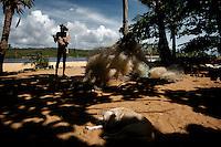 Richness without money, Tazinho's philosophy. Caraiva, Brazil