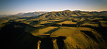 Aerial view of farmland near the Rakaia Valley Canterbury Region. New Zealand.