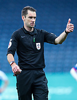 Referee Jarred Gillett gestures<br /> <br /> Photographer Alex Dodd/CameraSport<br /> <br /> The EFL Sky Bet Championship - Blackburn Rovers v Nottingham Forest - Saturday 17th October 2020 - Ewood Park - Blackburn<br /> <br /> World Copyright © 2020 CameraSport. All rights reserved. 43 Linden Ave. Countesthorpe. Leicester. England. LE8 5PG - Tel: +44 (0) 116 277 4147 - admin@camerasport.com - www.camerasport.com
