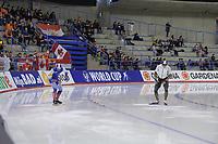SPEEDSKATING: Calgary, 07-02-2020, ISU World Cup Speed Skating Calgary, 500m Men Division A, Viktor Mushtakov (RUS), Tatsuya Shinhama (JPN), ©foto Martin de Jong