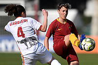 Lara Barbieri of Roma CF and Federica Di Criscio of AS Roma compete for the ball during the Women Italy cup round of 8 second leg match between AS Roma and Roma Calcio Femminile at stadio delle tre fontane, Roma, February 20, 2019 <br /> Foto Andrea Staccioli / Insidefoto