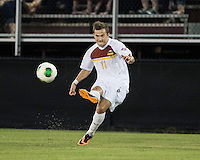 The Winthrop University Eagles played the College of Charleston Cougars at Eagles Field in Rock Hill, SC.  College of Charleston broke the 1-1 tie with a goal in the 88th minute to win 2-1.  Patrick Barnes (11)