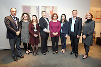 Pictured: Elona Gjebrea, Deputy Minister and National TBH Co-ordinator of Albania (C) with her delegation Thursday 02 March 2017<br /> Re: Multi-agency Wales and Albania Anti-Slavery Meeting discussing issues of people trafficking by organised gangs, Cardiff, UK