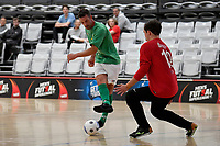 Adam Cowan of Central during the Men's Futsal SuperLeague, Central Futsal v Southern United Futsal at ASB Sports Centre, Wellington on Saturday 31 October 2020.<br /> Copyright photo: Masanori Udagawa /  www.photosport.nz