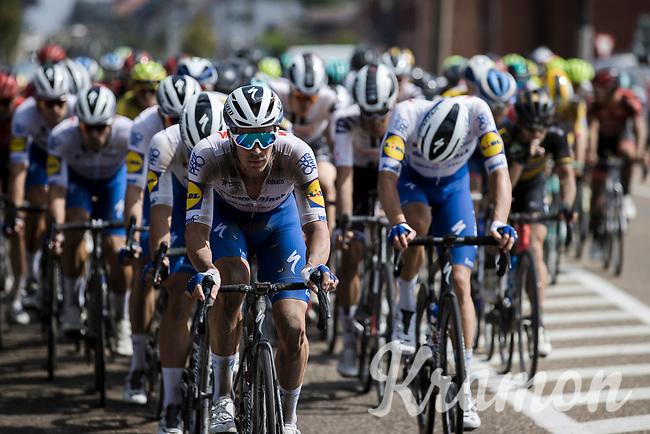 Iljo Keisse (BEL/Deceuninck Quick Step) leading the peloton. <br /> <br /> <br /> Dwars Door Het Hageland 2020<br /> One Day Race: Aarschot – Diest 180km (UCI 1.1)<br /> Bingoal Cycling Cup 2020