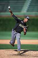 Garrett Gooden (2) of St. Pius X Catholic High School in Decatur, Georgia during the Under Armour All-American Game on August 15, 2015 at Wrigley Field in Chicago, Illinois. (Mike Janes/Four Seam Images)
