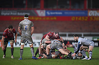 2nd January 2021; Kingsholm Stadium, Gloucester, Gloucestershire, England; English Premiership Rugby, Gloucester versus Sale Sharks; Will Cliff of Sale Sharks prepares to box kick