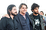 """Victor Dreyre Pro, Raul Cerezo and Emiliano Rocha pose to the media during the presentation of the film """"Blood Red Carpet"""" at Festival de Cine Fantastico de Sitges in Barcelona. October 13, Spain. 2016. (ALTERPHOTOS/BorjaB.Hojas)"""