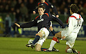 26/12/2004  Copyright Pic : James Stewart.File Name : jspa06_falkirk_v_airdrie.FALKIRK'S KEVIN JAMES CHALLENGES ALAN GOW....Payments to :.James Stewart Photo Agency 19 Carronlea Drive, Falkirk. FK2 8DN      Vat Reg No. 607 6932 25.Office     : +44 (0)1324 570906     .Mobile   : +44 (0)7721 416997.Fax         : +44 (0)1324 570906.E-mail  :  jim@jspa.co.uk.If you require further information then contact Jim Stewart on any of the numbers above.........