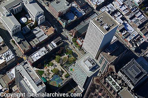 aerial photograph of Hartford Building and 650 California Street, San Francisco, California