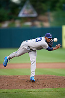 Corpus Christi Hooks relief pitcher Josh James (23) delivers a pitch during a game against the Springfield Cardinals on May 31, 2017 at Hammons Field in Springfield, Missouri.  Springfield defeated Corpus Christi 5-4.  (Mike Janes/Four Seam Images)