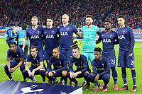 Tottenham Hotspur line up before RB Leipzig vs Tottenham Hotspur, UEFA Champions League Football at the Red Bull Arena on 10th March 2020
