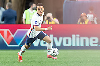 DENVER, CO - JUNE 6: Sergino Dest #2 of the United States moves with the ball during a game between Mexico and USMNT at Mile High on June 6, 2021 in Denver, Colorado.
