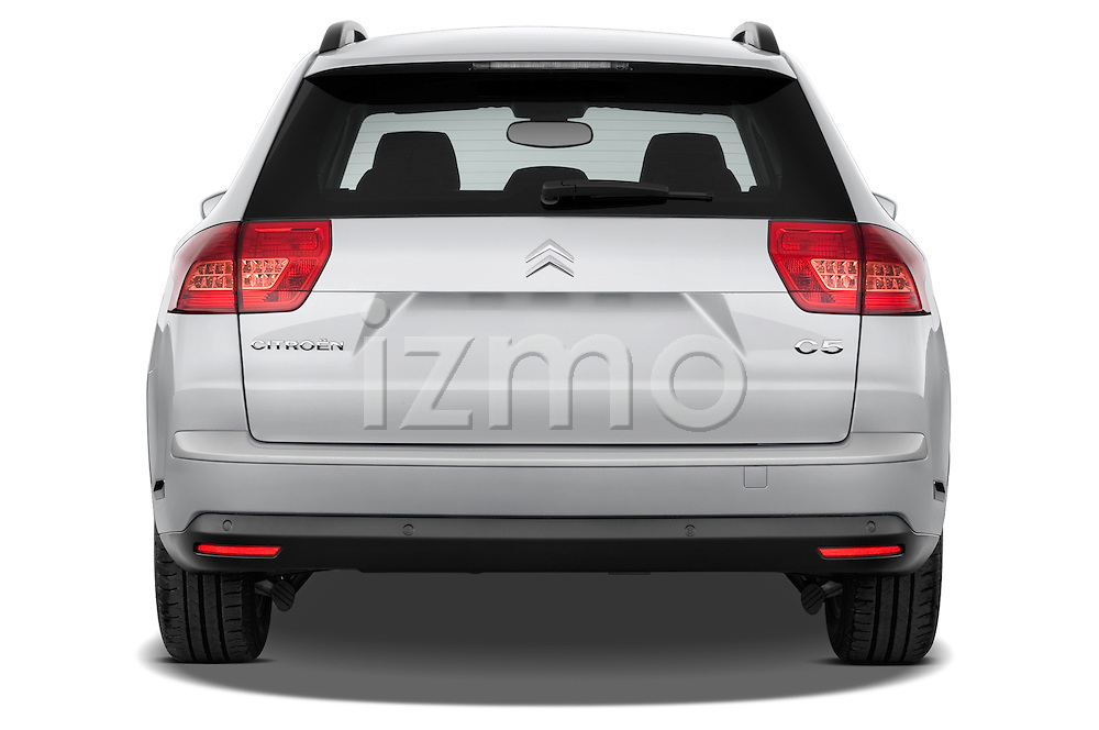 Straight rear view of a 2010 Citroen C5 Dynamique 5 Door Wagon 2WD