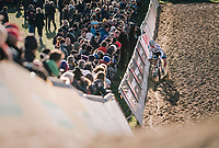 race leader > European Champion Mathieu van der Poel (NED/Corendon-Circus) plowing through the sand (1 minute ahead of the competition)<br /> <br /> Superprestige Ruddervoorde 2018 (BEL)