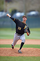 Pittsburgh Pirates pitcher Chris McDonald (30) delivers a pitch during a minor league Spring Training game against the Philadelphia Phillies on March 24, 2017 at Carpenter Complex in Clearwater, Florida.  (Mike Janes/Four Seam Images)