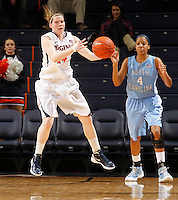 CHARLOTTESVILLE, VA- JANUARY 5: Lexie Gerson #14 of the Virginia Cavaliers handles the ball during the game against the North Carolina Tar Heels on January 5, 2012 at the John Paul Jones arena in Charlottesville, Virginia. North Carolina defeated Virginia 78-73. (Photo by Andrew Shurtleff/Getty Images) *** Local Caption *** Lexie Gerson