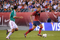 Jermaine Jones (8) of the United States. The men's national teams of the United States (USA) and Mexico (MEX) played to a 1-1 tie during an international friendly at Lincoln Financial Field in Philadelphia, PA, on August 10, 2011.