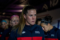 ORLANDO, FL - MARCH 05: Alyssa Naeher #1 of the United States stands in the tunnel during a game between England and USWNT at Exploria Stadium on March 05, 2020 in Orlando, Florida.