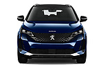 Car photography straight front view of a 2021 Peugeot 5008 GT 5 Door SUV Front View