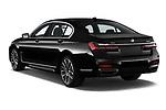 Car pictures of rear three quarter view of 2020 BMW 7-Series M-Sport 4 Door Sedan Angular Rear