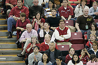 15 December 2007: Stanford Cardinal president John L. Hennessy, senior assistant Jeff Wachtel, and deputy director of athletics Ray Purpur during Stanford's 25-30, 26-30, 30-23, 30-19, 8-15 loss against the Penn State Nittany Lions in the 2007 NCAA Division I Women's Volleyball Final Four championship match at ARCO Arena in Sacramento, CA.