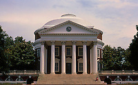 Thomas Jefferson: The Rotunda, Univ. of Virginia, 1822-1826. Elevation. 1/2 scale of Pantheon, Rome.  Photo '85.