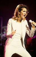 Montreal (Qc) Canada - December 18 1996 - Celine Dion  in concert in Montreal.
