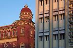 Myanmar, (Burma), Yangon Region, Rangoon: Colonial era and modern architecture | Myanmar (Birma), Yangon-Division, Rangun: Gebaeude aus der Kolonialzeit und moderne Architektur
