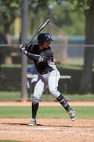 Chicago White Sox shortstop Ramon Beltre (6) at bat during an Instructional League game against the Los Angeles Dodgers on September 30, 2017 at Camelback Ranch in Glendale, Arizona. (Zachary Lucy/Four Seam Images)