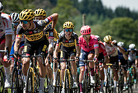 Primoz Roglic (SVN/Jumbo-Visma) isn't having his best day on teh bike and will lose more time in the overall<br /> <br /> Stage 7 from Vierzon to Le Creusot (249km)<br /> 108th Tour de France 2021 (2.UWT)<br /> <br /> ©kramon