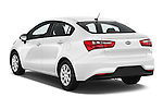 Car pictures of rear three quarter view of 2017 KIA Rio LX-AT 4 Door Sedan Angular Rear