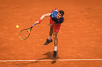 Paris, France, 29 May, 2019, Tennis, French Open, Roland Garros, Yannick Maden (GER) in action against Rafael Nadal (ESP)<br /> Photo: Henk Koster/tennisimages.com