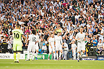 Real Madrid's Jese and Gareth Bale celebrating a goal during Champions League 2015/2016 Semi-Finals 2nd leg match at Santiago Bernabeu in Madrid. May 04, 2016. (ALTERPHOTOS/BorjaB.Hojas)