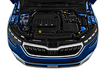 Car stock 2020 Skoda Kamiq Style 5 Door SUV engine high angle detail view