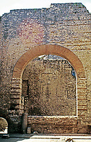 Arch into the tepidarium of the Baths of Constantine, Arles France