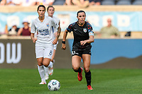 BRIDGEVIEW, IL - JULY 18: Vanessa DiBernardo #10 of the Chicago Red Stars dribbles the ball during a game between OL Reign and Chicago Red Stars at SeatGeek Stadium on July 18, 2021 in Bridgeview, Illinois.