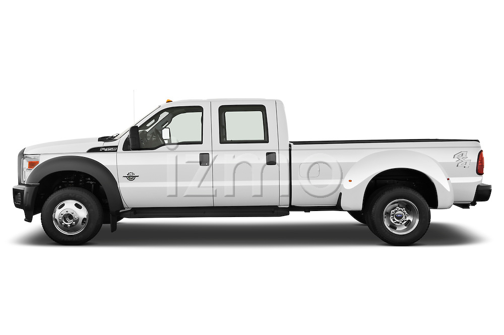 Driver side profile view of a 2011 Ford F450 Crew Cab .