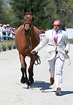 LEXINGTON, KY - April 26, 2017. #7 Park Trader and Bruce Buck Davidson Jr from the USA at the Rolex Three Day Event First Horse Inspection at the Kentucky Horse Park.  Lexington, Kentucky. (Photo by Candice Chavez/Eclipse Sportswire/Getty Images)