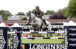 August 09, 2009: Capt. David O'Brien aboard Mo Chroi competing in the Grand Prix event. Longines International Grand Prix. Failte Ireland Horse Show. The RDS, Dublin, Ireland.