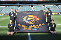 Philadelphia, PA - Tuesday June 14, 2016: Copa America flag prior to a Copa America Centenario Group D match between Chile (CHI) and Panama (PAN) at Lincoln Financial Field.