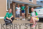 Eve Coffey, Suzanne Smith, Sonya Smith and Ellen Coffey running in the Legion Senior Ladies GAA 250km for the Kerry Hospice Foundation on Saturday