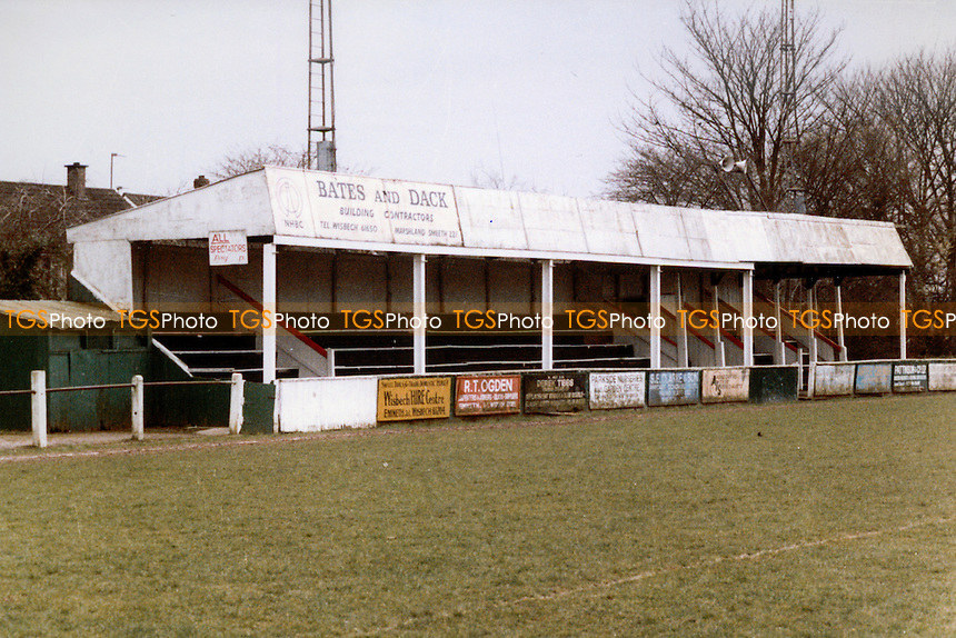 Fenland Park, home of Wisbech Town Football Club (Cambridgeshire), pictured circa 1987 - Gavin Ellis/TGSPHOTO - Self billing applies where appropriate - 0845 094 6026 - contact@tgsphoto.co.uk - NO UNPAID USE..