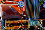 Antique fire truck in Curlew, Washington, Ferry County, Okanogan area.