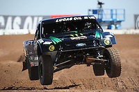 Mar. 18, 2011; Chandler, AZ, USA;  LOORRS pro 2 unlimited driver Jeremy McGrath during qualifying for round one at Firebird International Raceway. Mandatory Credit: Mark J. Rebilas-