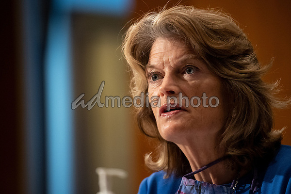 "United States Senator Lisa Murkowski (Republican of Alaska), makes remarks during the US Senate Health, Education, Labor, and Pensions Committee during a hearing titled ""COVID-19: Going Back to School Safely"" on Capitol Hill in Washington, DC on Thursday, June 4, 2020.  Earlier in the day, Murkowski praised former US Secretary of Defense James Mattis for his statement in ""The Atlantic"" backing the protestors demonstrating against the wrongful death of George Floyd and saying US President Donald J. Trump is trying to divide Americans.<br /> Credit: Ting Shen / CNP/AdMedia"